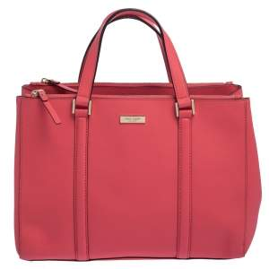 Kate Spade Pink Leather Double Zip Tote
