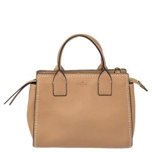 Kate Spade Beige Leather Dunne Lane Tote