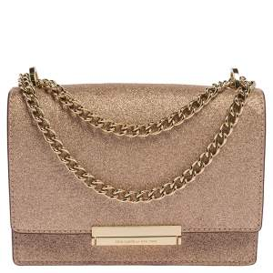 Kate Spade Rose Gold Glitter Burgess Court Shoulder Bag