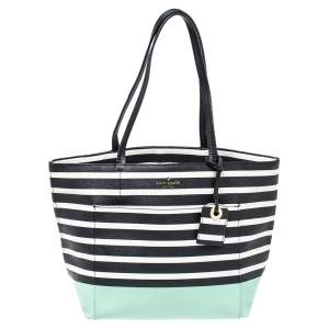 Kate Spade Multicolor Lane Dipped Stripe PVC Riley Tote