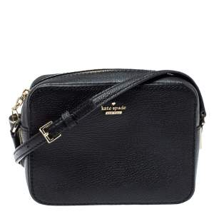 Kate Spade Black Leather Kingston Drive Arla Crossbody Bag
