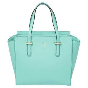 Kate Spade Green Leather Small Cedar Street Hayden Satchel