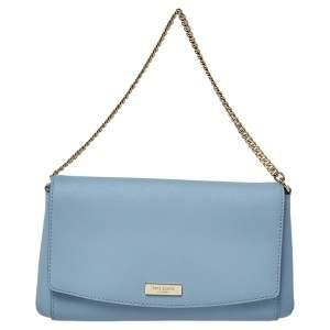 Kate Spade Blue Leather Crossbody Flap Shoulder Bag