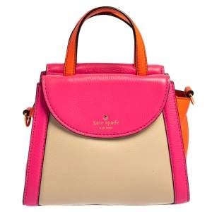 Kate Spade Tricolor Leather Cobble Hill Small Adrien Top Handle Bag