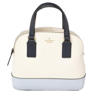 Kate Spade Two Tone Leather Small Lottie Satchel