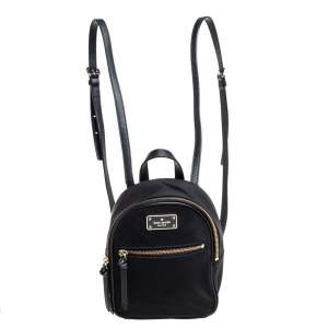 Kate Spade Black Nylon Mini Bradley Backpack