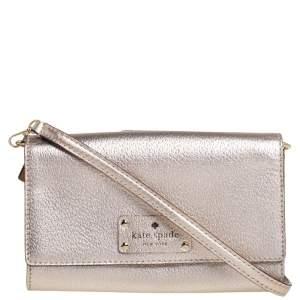 Kate Spade Gold Leather Crossbody Bag