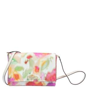 Kate Spade Multicolor Floral Coated Canvas Small Crossbody Bag