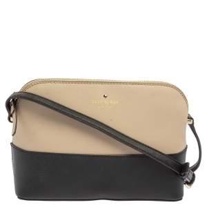 Kate Spade Black/Beige Leather New York Cedar Street Mandy Crossbody Bag