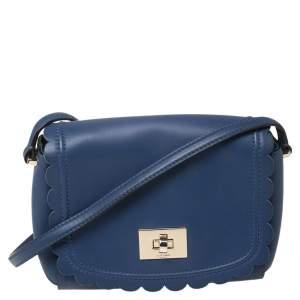 Kate Spade Blue Leather Maple Court Shoulder Bag