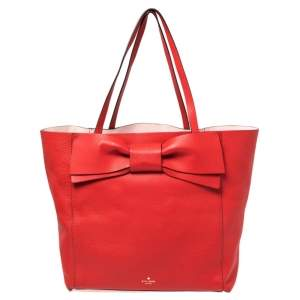 Kate Spade Red Leather Bow Tote