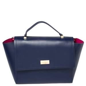 Kate Spade Blue Leather Brynlee Top Handled Bag