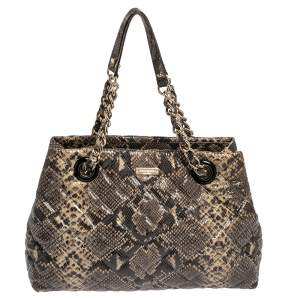 Kate Spade Multicolor Quilted Python Embossed Leather Maryanne Shoulder Bag