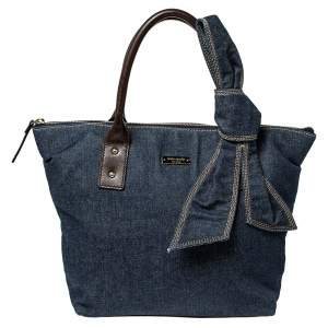 Kate Spade Blue Denim and Leather Dungarees Satchel