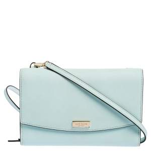 Kate Spade Light Aqua Blue Leather Laurel Way Winni Crossbody Bag