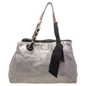 Kate Spade Silver Leather Shoulder Bag