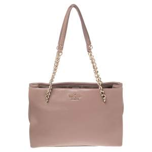 Kate Spade Old Rose Leather Small Emerson Place Phoebe Smokey Tote