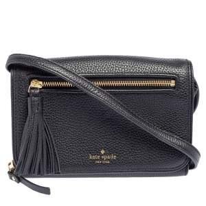 Kate Spade Black Leather Chester Street Avie Crossbody Bag