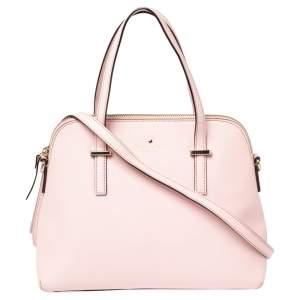 Kate Spade Light Pink Saffiano Leather Cedar Street Maise Satchel