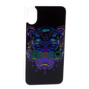 Kenzo Multicolor Black PVC Tiger Print iPhone X Case