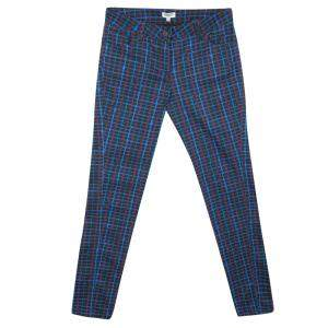 Kenzo Jungle Multicolor Irregular Check Printed Denim Jeans S