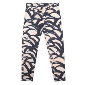 Kenzo Multicolor Palm Leaves Printed Denim Skinny Jeans S