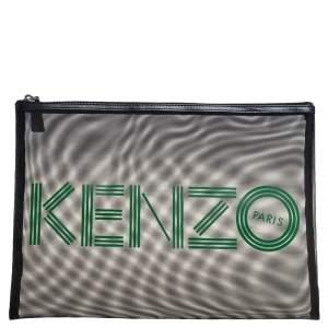 Kenzo Green/Black Mesh Clutch