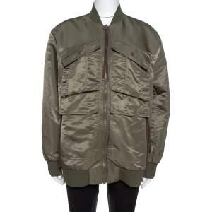 Kenzo Olive Green Utility Bomber Jacket M