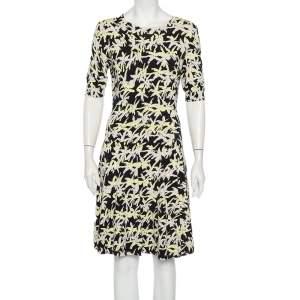 فستان كينزو ميدي فضفاض تريكو جاكار شجرة النخيل متعدد الألوان مقاس متوسط - ميديوم