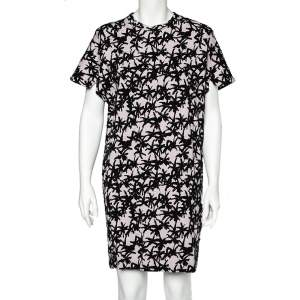 Kenzo Lavender Flocked Abstract Patterned Dress M