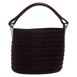 Kenzo Brown Fabric Bucket Bag