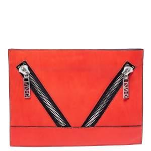 Kenzo Scarlet Leather Kalifornia Zip Pouch
