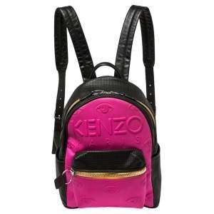 Kenzo Multicolor Leather and Neoprene Kombo Backpack