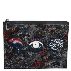 حقيبة صغيرة كينزو نايلون متعددة الألوان بطبعة تايغر بسحّاب