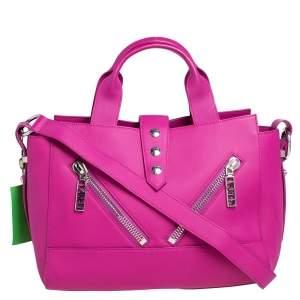 Kenzo Pink Gommato Leather Kalifornia Tote