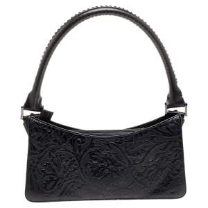 Kenzo Black Leather Pochette Bag