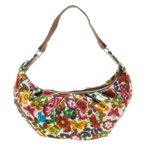 Lancel Multicolor Printed Fabric Shoulder Bag
