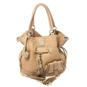 Lancel Beige Leather Premier Flirt Bucket Bag