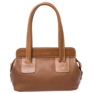 Lancel Tan Leather Shoulder Bag