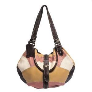 Lancel Multicolor Patches Leather Shoulder Bag