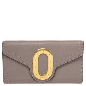 Lancel Beige Leather Continental Wallet