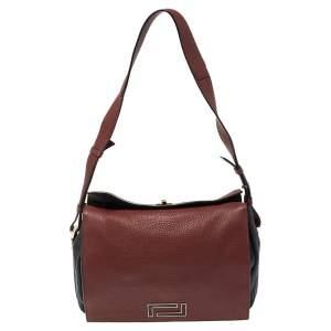 Lancel Red/Blue Leather Pia Shoulder Bag
