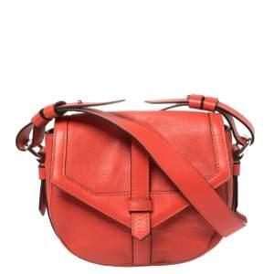 Lancel Red Leather Crossbody Bag
