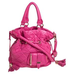 Lancel Pink Quilted Leather Limited Edition Premiere Flirt Bucket Bag