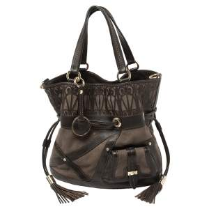 Lancel Brown Leather and Suede Limited Edition 219/300 Flirt Hobo