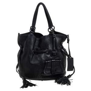 Lancel Black Pebbled Leather Premiere Flirt Bucket Bag