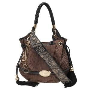 Lancel Brown/Black Suede And Leather Premier Flirt Bucket Shoulder Bag