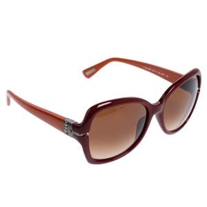 Lanvin Burgundy/ Brown Gradient SLN 594S Oversized Sunglasses