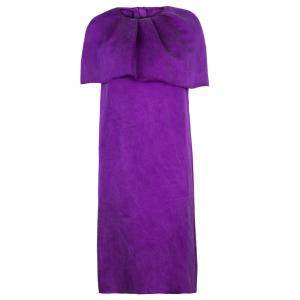 Lanvin F/W 2007 Purple Cape Dress S