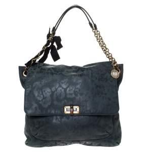 Lanvin Green Leather Happy Shoulder Bag